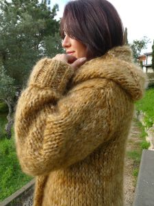 Cardigan Hooded by Lanaknittings1