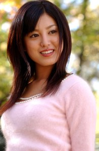 Yuria Takenouchi pink angora sweater