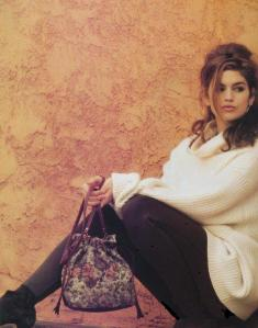 Cindy Crawford white sweater