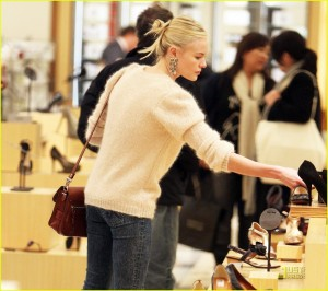 Kate Bosworth shopping for shoes at Barneys New York in Beverly Hills, CA