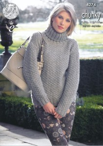 king-cole-magnum-chunky-knitting-pattern-polo-neck-sweater-cardigan-4274-front__73217.1437728424.1280.1280