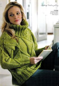 knitting-pattern-ladies-32-44-diamond-cable-sweater-martin
