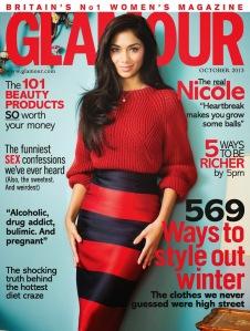 Nicole Scherzinge-Glamour Magazine (October 2013)