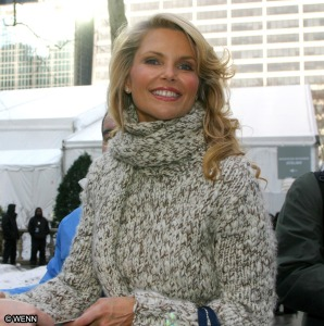 Christie Brinkley chunky sweater